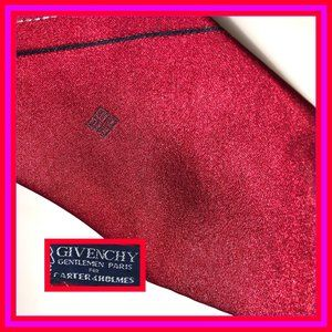 brilliant red givenchy tie